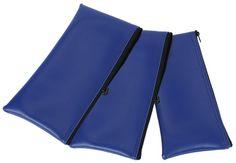 "bank pouch | 11"" Vinyl zipper bags, blue. - Bankmart"