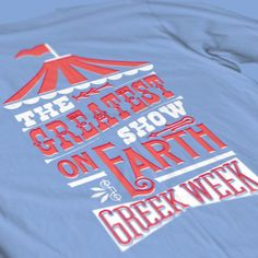 Alpha Chi Omega - Greek Week Circus Design - AXO - Sorority Tshirts - Check out b-unlimited.com!