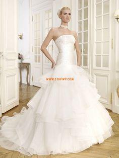 Balayage / pinceau train Brillant & Séduisant Sans manches Robes de mariée 2014