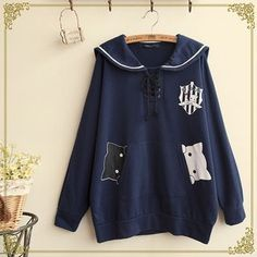 Buy 'Fairyland – Cat Print Sailor Collar Pullover' with Free International Shipping at YesStyle.com. Browse and shop for thousands of Asian fashion items from China and more!