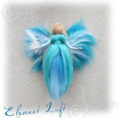 Ornaments – Element Luft, Luftfee, Waldorf, Jahreszeitentisch – a unique product by filzweiber on DaWanda
