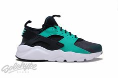AIR HUARACHE RUN ULTRA DARK GREY BLACK WHITE MENTHOL 819685 003