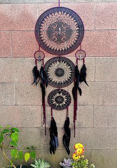 Victorian Three Layer Dream Catcher Dreamcatcher Design, Crochet Dreamcatcher, Dreams Catcher, Dream Catcher Mandala, Native American Spirituality, Beautiful Dream Catchers, Medicine Wheel, Arts And Crafts, Diy Crafts