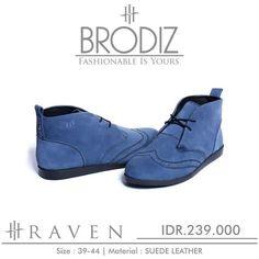 Brodiz Raven, Warna: Blue, Size : 39-44. Untuk Pemesanan Online Kunjungi : www.rockford-footwear.com *Gratis pengiriman ke seluruh Indonesia Email: contact@rockford-footwear.com Pin : 525B26DF Atau...