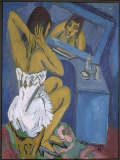 La toilette - Femme au miroir. 1912 .Kirchner Ernst Ludwig (1880-1938)