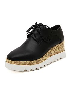 Shop Black Platform Shoes With Squard Toe from choies.com .Free shipping Worldwide.$47.9