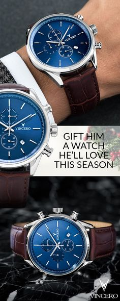 Bold, modern watches for men and women. Vincero timepieces come equipped with leather bands, sapphire crystal and affordable prices. The perfect gift for him or her.