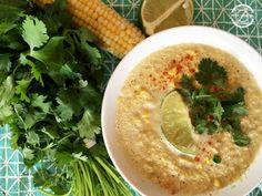 Vegan Corn Chowder With Cilantro & Lime via @fitfluential #recipes #fitfluential