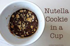no. 2 pencil: Nutella Cookie in a Cup