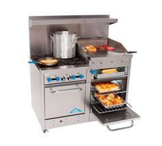 Comstock Castle F3226-24-1RB Gas 60 Range w// Griddle /& Char Broiler