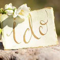 Vintage, romantic, gold hues by Chirography. Gold Watercolor, Marry Me, Spring Break, Proposal, Place Card Holders, Calligraphy, Romantic, Inspired, Instagram Posts