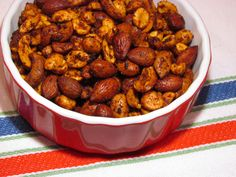 CHILI-LIME MIXED NUTS This recipe is so simple and will save you so much money over buying canned, seasoned nuts.  You can replace the nuts in this recipe with any of your favorite low-carb nuts and seeds Check out some of my other favorite low carb mixed nuts recipes: Spicy Buffalo Roasted Nuts Low Carb Pumpkin Spice...