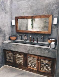36 Modern Rustic Bathroom Decor Ideas – – rustic home diy Rustic Bathroom Designs, Rustic Bathroom Decor, Rustic Bathrooms, Bathroom Interior, Rustic Shower, Bedroom Rustic, Rustic Nursery, Bathroom Colors, Small Bathroom