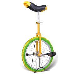 "18"" Wheel Uni-Cycle Chrome Bike Unicycle W/ Free Stand Cycling Yellow Green by Generic. $49.99"