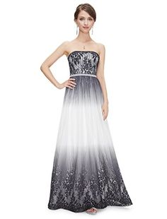 Ever Pretty Womens Strapless Formal Evening Dress 16 US Black  White * Be sure to check out this awesome product.