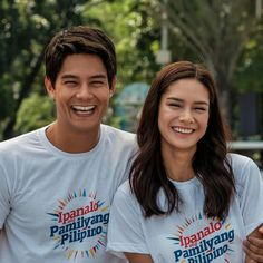 """This is the handsome Daniel Matsunaga and the pretty Erich Gonzales smiling for the camera at the Rizal Park during the taping of the 2016 ABS-CBN Summer Station ID and Halalan 2016 Station ID, """"Ipanalo ang Pamilyang Pilipino!"""" They are promoting awareness to all Filipinos to vote wisely on Halalan 2016. #DanielMatsunaga #ErichGonzales #Halalan2016 #IpanaloangPamilyangPilipino Rizal Park, Filipina Beauty, Star Magic, Teen Actresses, Blackpink Jennie, Abs, Filipino, A Good Man"""