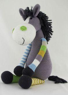 Crochet Baby Toys, Crochet Dolls, Knit Crochet, Crochet Horse, Crochet Animals, Diy Baby Gifts, Amigurumi Toys, Free Knitting, Free Pattern