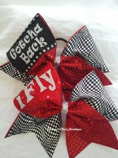 Gotcha Back and I Fly Cheer Bow