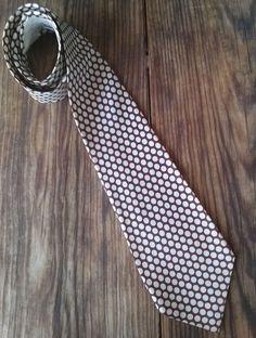 Vintage 1940s Necktie Polka Dot Wide Silk Superba Cravat 2015315 - pinned by pin4etsy.com