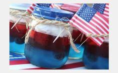 Patriotic Jello Snacks   #julyrecipes
