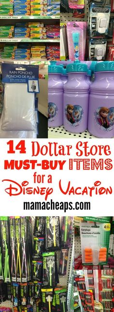 14 Dollar Store MUST-BUY Items for a Disney Vacation You know by now that I seriously love traveling. Our travels have landed us all over this fabulous country, including of course, Disney World on more than one occasion! I'm not exaggerating… Disneyland Vacation, Disneyland Tips, Disney Vacation Planning, Disney World Planning, Disney World Vacation, Disney Vacations, Vacation Trips, Disney Travel, Vacation Ideas