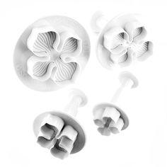 Hydrangea Plunger Cutter Set of 4 by Martellato Martellato Flower Making Tools & Gumpaste Cutters
