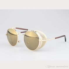 08668b2dd0b ... Designer Sunglasses For Man Woman Brand High Quality Metal Designer  Sunglasses Wholesale Discount Circle Sunglasses Glass Frames From  Esovision2016