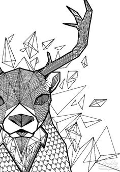 Geometric Deer by dushky on DeviantArt