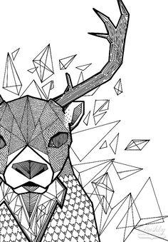 Geometric Deer by dushky on DeviantArt