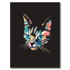 POP ART CAT POST CARDS