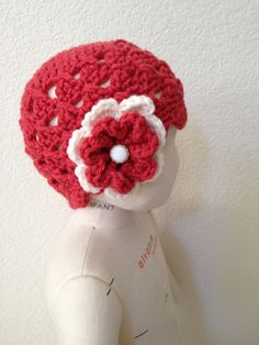 Crochet Beanie  Coral Scalloped Shell with by NydiaFierroDesigns, $20.00