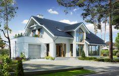 DOM.PL™ - Projekt domu DZW Z CHARAKTEREM 4 CE - DOM DW1-42 - gotowy projekt domu