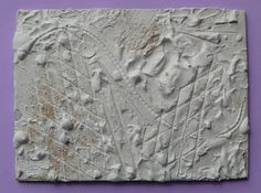 How To: Texture Painting Technique (uses Plaster of Paris, but Joint Compound would also work for this....*be sure to seal the surface) art inspir, textur paint, paris, artists, texture, craft idea, jeans, kids, paintings