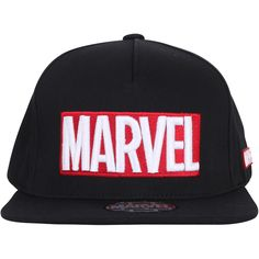 ililily MARVEL Embroidery Logo New Era Style Snapback Trucker Hat... ($26) ❤ liked on Polyvore