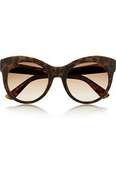 44e4b072656 Gucci - Cat-eye acetate and metal sunglasses