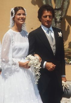 Princess Caroline and Philippe Junot, 1978....Phillipe was a man 17 yrs her senior.....