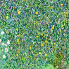 """101 """"Μου αρέσει!"""", 2 σχόλια - Lone Quixote (@lonequixote) στο Instagram: """"Rosebushes under the Trees (detail) [1905] by Gustav Klimt #art #artist #artwork #kunst #la…"""""""