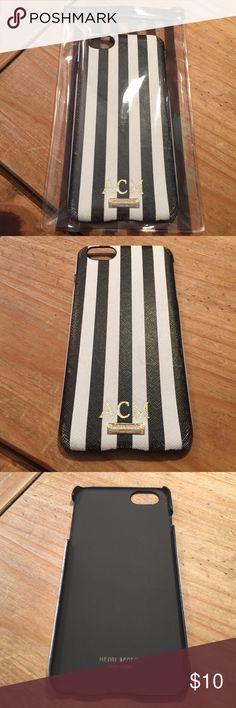 Henri Bendel Striped iPhone 6 Plus Case Henri Bendel Striped iPhone 6 Plus Case, pre-owned, has HB hardware and the initials ACM, corners are a bit rubbed off, great deal for a classic HB look! henri bendel Accessories Phone Cases