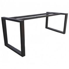 Suitable for timber table tops up to 2200 x and legs Modern Steel Table Legs Base Frame Coffee Table Legs Metal, Steel Table Legs, Diy Dining Room Table, Patio Table, Steel Furniture, Table Furniture, Cast Iron Table Base, Timber Table, Vintage Table
