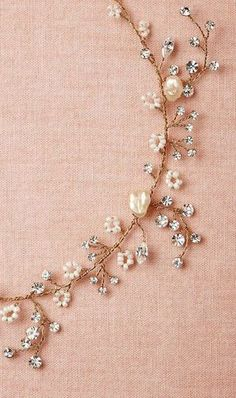 Beautiful Jewelry Starry Vine Necklace : if we can't do multi strand something dainty like this is cute Good, Wedding Jewelry, Jewelry Box, Jewelry Accessories, Jewelry Necklaces, Jewelry Design, Jewelry Making, Pandora Jewelry, Bracelets, Diy Jewelry