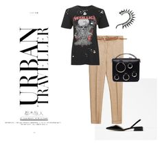 """urban"" by kety-de-jesus ❤ liked on Polyvore featuring Zara, Topshop and MSGM"