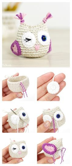Crochet Diy Tejido crochet … - Owl is one of the animals which are commonly used in craft projects. Here are a few Crocheted Owls ideas which create beautiful and cute owls. Diy Crochet Owl, Crochet Simple, Crochet Amigurumi, Cute Crochet, Crochet For Kids, Crochet Animals, Crochet Crafts, Knit Crochet, Crochet Fabric