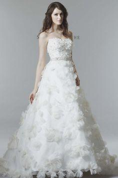 Saison Blanche Textured Wedding Dress