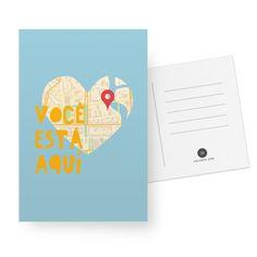 Cartão Heart Map de @karenrulez | Colab55