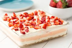 Strawberry Cheesecake LasagnaDelish