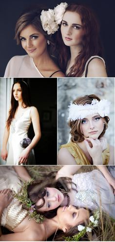 hair accesories, love the flowers!