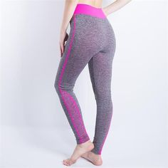 2016 Women Sexy Cropped Leggings High Waist Elastic Wicking Force Exercise Female Elastic Stretchy Leggings Slim Trousers 34 C
