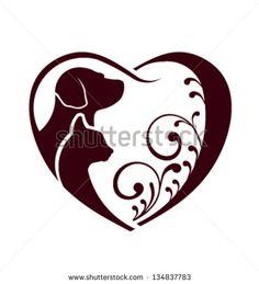 yin yang cat and dog vector set grafiki pinterest yin yang rh pinterest com Yin Yang Cat Black Cat Yin Yang Print