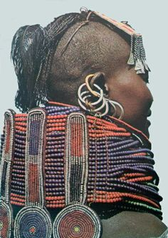 Africa | Turkana girl.  Kenya || Scanned postcard