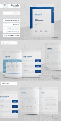 Project Proposal Template, Business Proposal Template, Proposal Templates, Business Templates, Brochure Layout, Brochure Design, Brochure Template, Page Template, Adobe Indesign